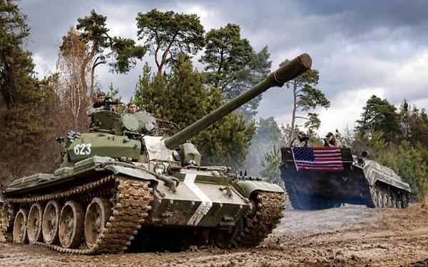Conduite tank T55 EVG Prague
