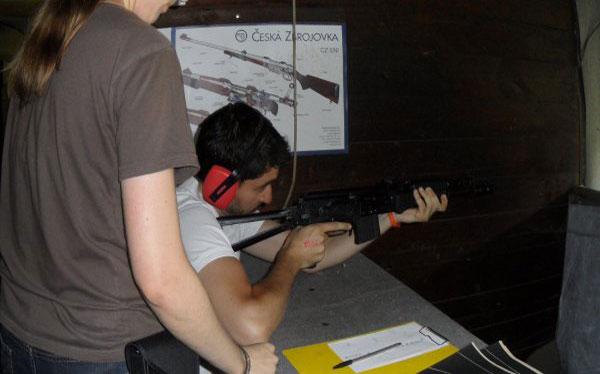 Shooting armes EVG Prague